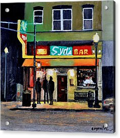 Acrylic Print featuring the painting Syd's Bar by John Reynolds