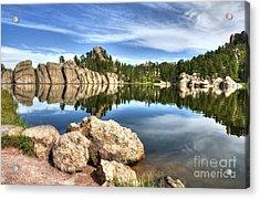 Sylvan Lake Reflections 2 Acrylic Print