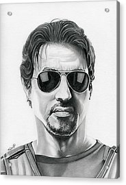 Sylvester Stallone - The Expendables Acrylic Print