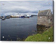 Symbister Harbour Acrylic Print