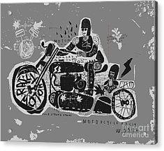 Symbolic Image Of An Old Racing Acrylic Print