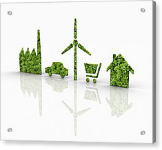 Symbols Of A Sustainable Lifestyle Acrylic Print by Jorg Greuel