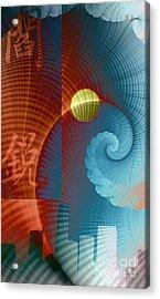 Symbols Vertical Acrylic Print