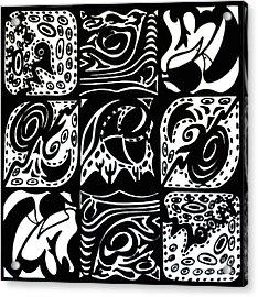 Symmetrical Illusion Abstract Acrylic Print by Mukta Gupta