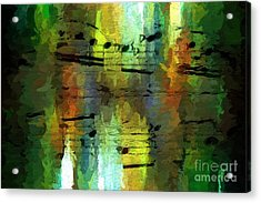 Acrylic Print featuring the digital art Forest Figures by Lon Chaffin