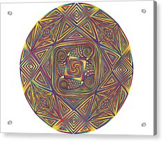 Symmetry Four Acrylic Print by diNo