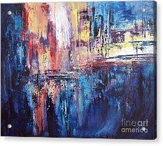 Symphony In Blue Acrylic Print