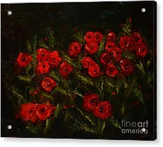Symphony In Coquelicot Acrylic Print