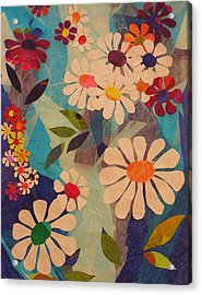 Acrylic Print featuring the mixed media Symphony Of Flowers by Diane Miller