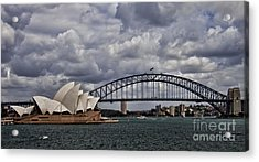 Syndey Famous Acrylic Print by Shirley Mangini