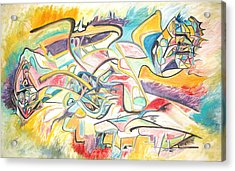 Acrylic Print featuring the painting Synergetic Statement by Esther Newman-Cohen