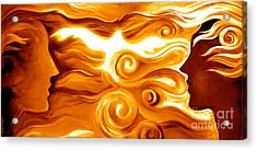Synergy In Love Acrylic Print by Gem S Visionary