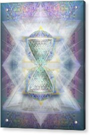 Synthesphered Chalice Fifouray Star On Tapestry Acrylic Print by Christopher Pringer