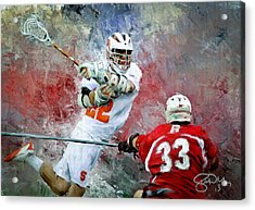 College Lacrosse 5 Acrylic Print by Scott Melby