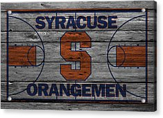 Syracuse Orangemen Acrylic Print by Joe Hamilton
