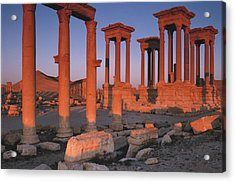 Syria, The Great Tetra Pylon At Palmyra Acrylic Print