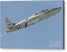 T-33 Shooting Star Flying Acrylic Print by Phil Wallick