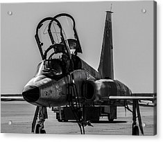 T-38 Talon Black And White Acrylic Print