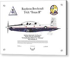 Acrylic Print featuring the digital art T-6a Jpats Texan II by Arthur Eggers