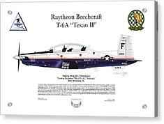 T-6a Texan II Vt-10 Acrylic Print by Arthur Eggers