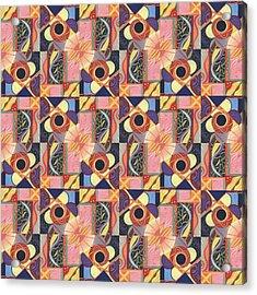 T J O D Tile Variations 16 Acrylic Print