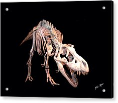 T-rex Acrylic Print by Tray Mead
