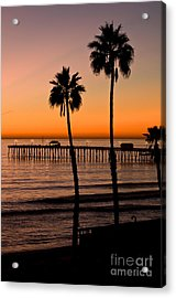 T Street Pier San Clemente California From The Book My Ocean Acrylic Print