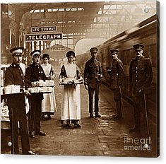 The Red Cross And St. John's Ambulance Brigade During Ww1 England Acrylic Print by The Keasbury-Gordon Photograph Archive