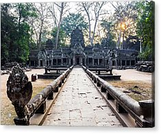 Ta Prohm Temple At Sunrise, Angkor Acrylic Print