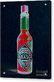 Tabasco Sauce 20130402 Acrylic Print by Wingsdomain Art and Photography