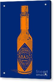 Tabasco Sauce 20130402grd2 Acrylic Print by Wingsdomain Art and Photography