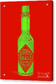 Tabasco Sauce 20130402grd3 Acrylic Print by Wingsdomain Art and Photography