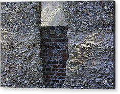 Tabby Wall With Red Brick Infill Acrylic Print by Lynn Palmer