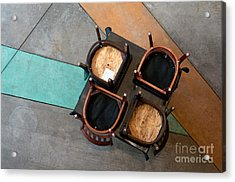Table And Chairs Acrylic Print by Dan Holm