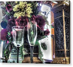 Table Arrangement Acrylic Print by Cathy Jourdan