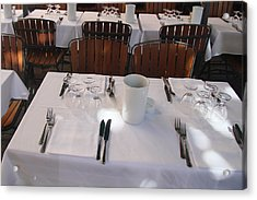 Table For Four Acrylic Print by John Bushnell