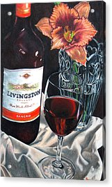 Table For One Acrylic Print by Michelle Harrington