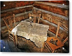 Table For Three Acrylic Print by Marty Koch