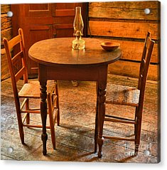 Table For Two Acrylic Print by Adam Jewell