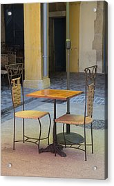 Table For Two Acrylic Print by Anita Miller