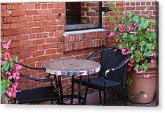 Acrylic Print featuring the photograph Table For Two by Cynthia Guinn