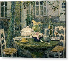 Table Laden For Spring Acrylic Print by Henry Eugene Le Sidaner