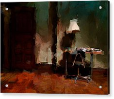 Table Lamp Chair Acrylic Print by H James Hoff
