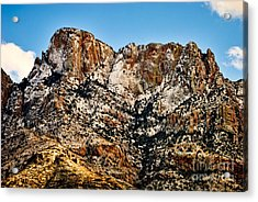 Acrylic Print featuring the photograph Table Mountain In Winter 42 by Mark Myhaver