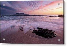 Table Mountain, Streaky Dusk Acrylic Print