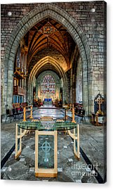 Table Reflections Acrylic Print by Adrian Evans