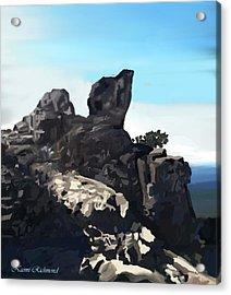 Table Rock Calistoga California Acrylic Print by Naomi Richmond