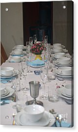 Table Set For A Jewish Festive Meal Acrylic Print by Ilan Rosen