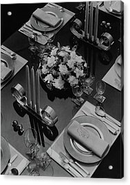 Table Setting Acrylic Print by Eugene Hutchinson