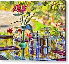 Table Setting Reflections Acrylic Print by Jack Schultz